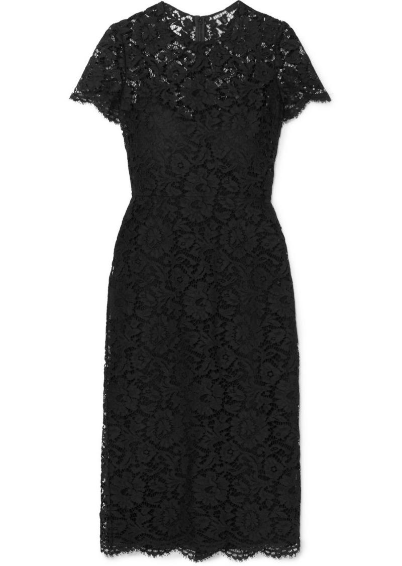 Valentino Corded Lace Midi Dress