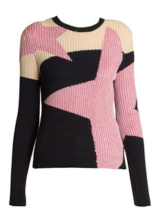 Valentino Cosmo Lurex Rib-Knit Sweater
