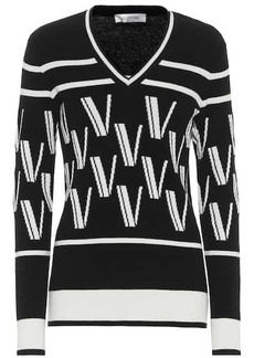 Valentino intarsia wool and cashmere sweater