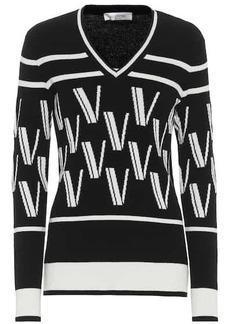 Valentino Intarsia wool and cashmere sweater