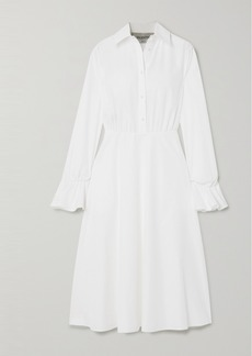 Valentino Cotton-blend Poplin Midi Dress