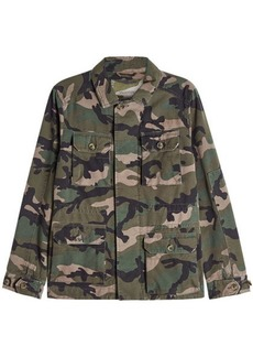 Valentino Cotton Camouflage Jacket