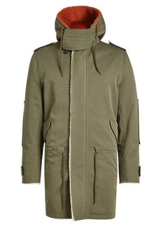 Valentino Cotton Parka with Shearling Lining