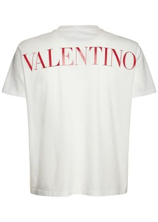 Valentino Cotton T-shirt W/ Macramé Pocket