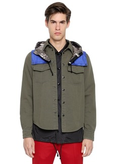 Valentino Cotton Twill Shirt W/ Nylon Hood