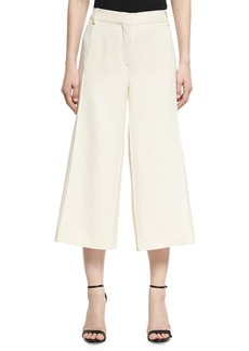 Valentino Crepe Couture Cropped Wide-Leg Pants