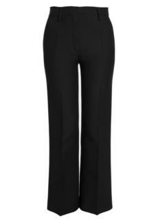 Valentino Crepe High-Waisted Slim Pants