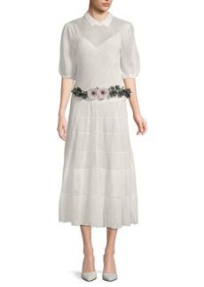 Valentino Crochet Midi Cotton Dress