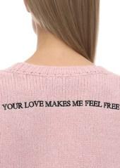 Valentino Cropped Alpaca Blend Knit Sweater