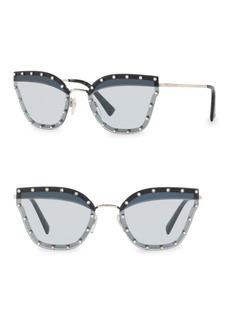 Valentino Crystal Trim 59MM Cat Eye Sunglasses
