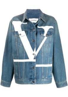 Valentino Deconstructed VLOGO denim jacket