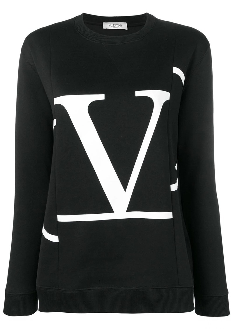 Valentino deconstructed VLogo sweatshirt