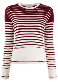 Valentino degradé stripes jumper
