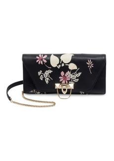 Valentino Garavani Demi Lune Leather Chain Shoulder Bag