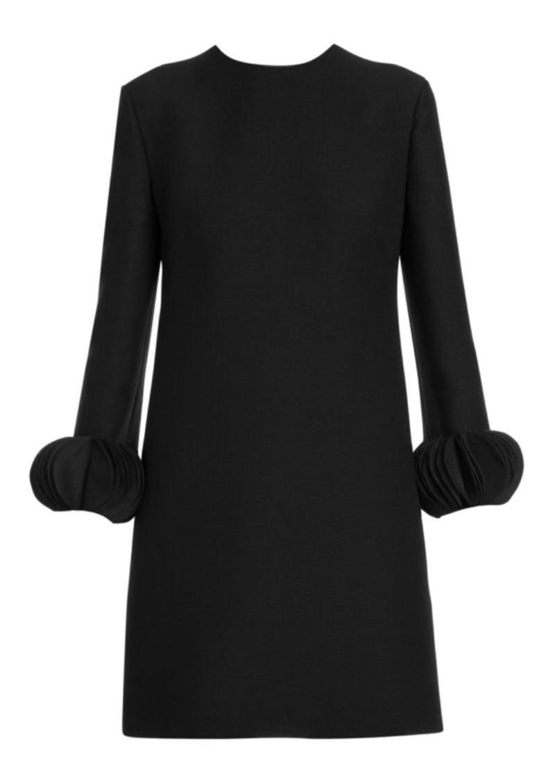 Valentino Disc Cuff Long Sleeve Shift Dress