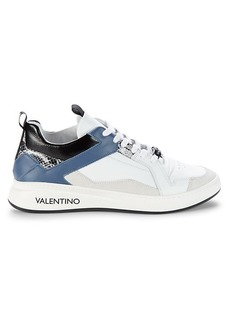 Valentino Donald Sauvage Leather Sneakers