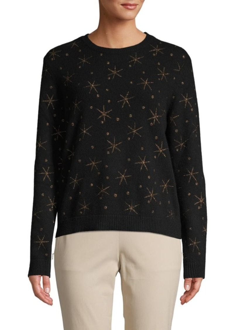 Valentino Dot & Star Wool Blend Sweater