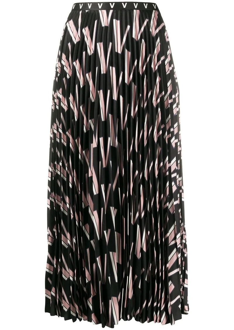 Valentino Double VLOGO pleated skirt