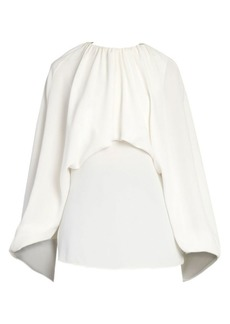 Valentino Draped Silk Blouse