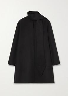 Valentino Draped Wool And Cashmere-blend Felt Coat