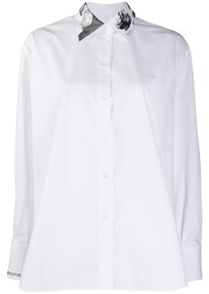 Valentino embellished collar shirt