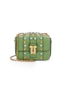 Valentino Embellished Leather Shoulder Mini Bag