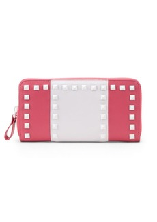 Valentino Embellished Leather Wallet