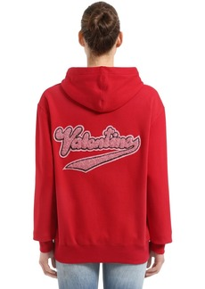 Valentino Embellished Logo  Zip-up Sweatshirt