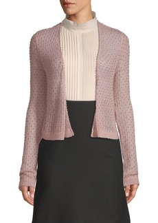 Valentino Embellished Open Front Cardigan