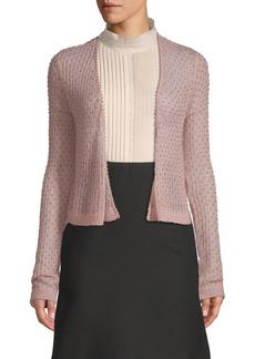 Valentino Embellished Open Front Cardigan