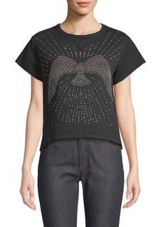 Valentino Embellished Short-Sleeve Top