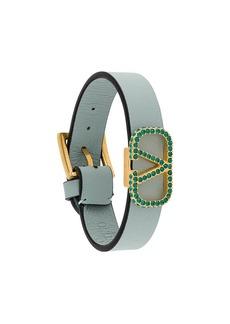 Valentino embellished VLOGO cuff bracelet