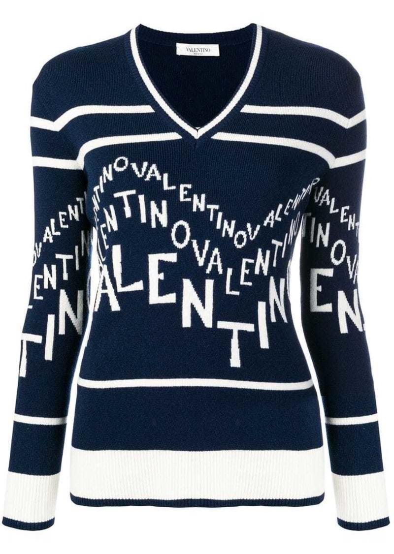 Valentino emblazoned logo jumper