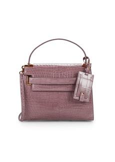 Valentino Crocodile Leather Top Handle Bag