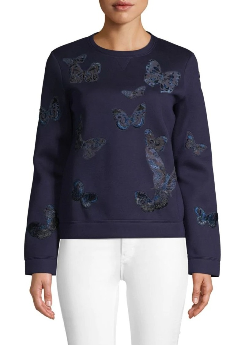 Valentino Embroidered Butterfly Sweatshirt