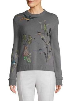 Valentino Embroidered Cashmere Sweater