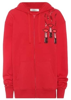 Valentino Embroidered cotton hoodie