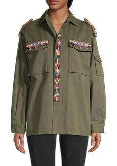Valentino Embroidered Cotton Twill Jacket