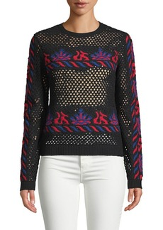 Valentino Embroidered Cut-Out Sweater