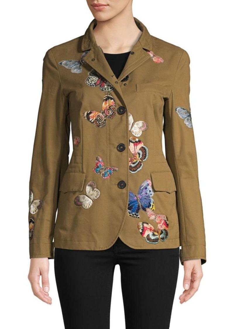 Valentino Embroidered Long-Sleeve Jacket