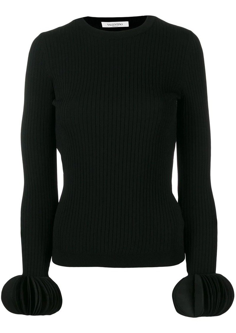 Valentino embroidered stretch sweater