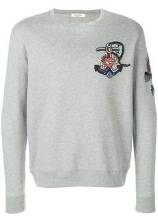 Valentino embroidered tattoo sweatshirt