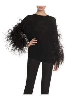 Valentino Feathered Wool-Cashmere Sweater
