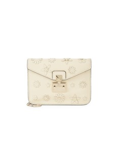 Valentino Floral Embellished Leather Crossbody Bag