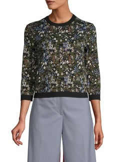 Valentino Floral Intarsia Sweater