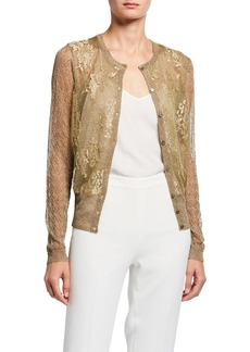 Valentino Floral Lace Cardigan