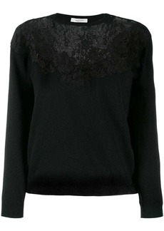 Valentino floral lace detailed sweater
