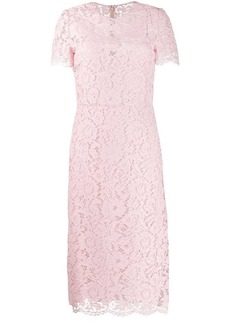 Valentino floral lace fitted dress