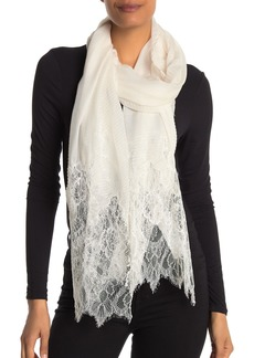 Valentino Floral Lace Plisse Scarf