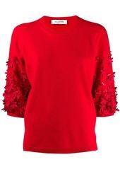 Valentino floral motif jumper